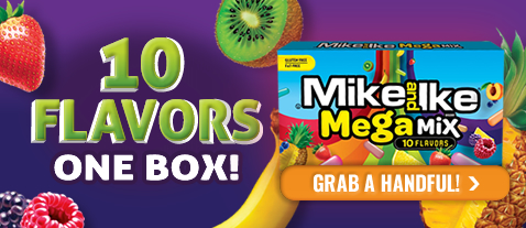 Mike and Ike Mega Mix - 10 Flavors One Box